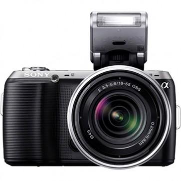 "Sony - Câmera  Alpha Nex-C3 16.2 MP  LCD 3.0""  Panorâmica 3D  Lente 18-55mm"