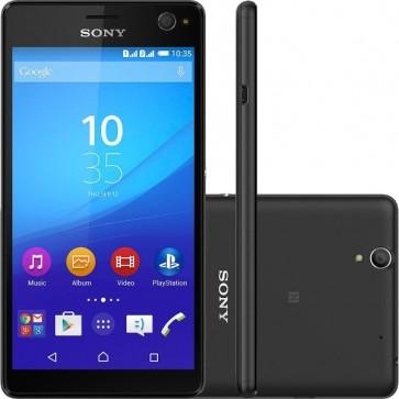 Sony Xperia C4 5306 Selfie Android 4G Câmera Traseira 13MP Frontal 5Mp 16GB Desbloqueado - Preto