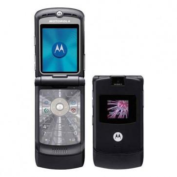 "Motorola V3 Classic Black - GSM Flip 2.2"" Tela LCD Quad-Band"
