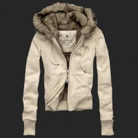 Jacket Coat Beige Bege Girl A&F Abercrombie & Fitch - Feminino