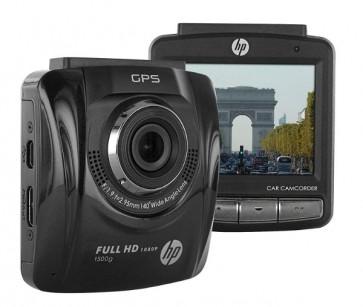 HP F500G Premium Full HD 1080p 2,4'' Câmera Carro Veicular Lente Ampla 140 graus GPS Integrado
