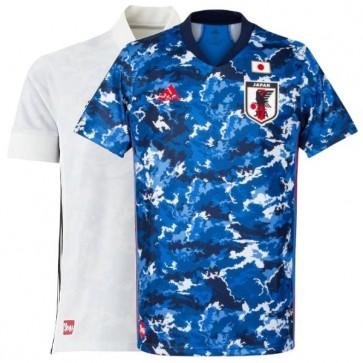 Camisa Adidas Japão I e II 2020 2021 Home Away Casa Visitante - Azul & Branco
