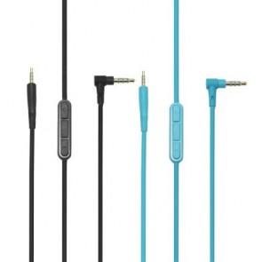 Replacement Cable Cabo MIC Volume Control Talk para Bose QuietConfort 25 QC25 OE2 OE2i - Preto e Azul