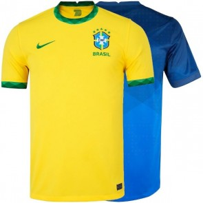 Camiseta Camisa Nike Brasil Brazil I e II 2020 2021 - Amarelo & Azul