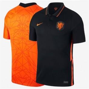 Camisa Futebol Nike Holanda Home Away Casa Visitante 2020 - 2021 - Preto & Laranja