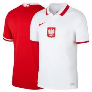 Camisa Futebol Nike Polonia Polônia Poland I e II Home Away 2020 2021 - Vermelho e Branco