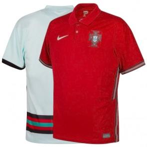 Camisa Futebol Nike Seleção Portugal I e II 2020 2021 - Vermelho e Branco