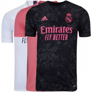 Camisa Real Madrid I - II e III Home Away Casa Visitante 2020 2021 - Todos