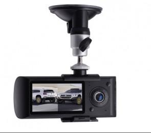 Dual Camera Car DVR  X3000 G-Sensor  Recorder Gravador Sensor Gravidade