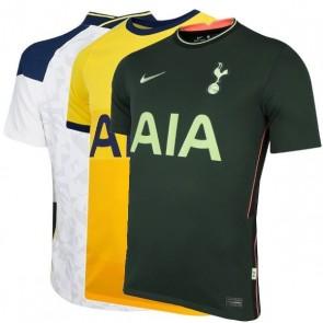 Camiseta Camisa Nike Tottenham I - II e III 2020 2021 - Branco Amarelo Verde